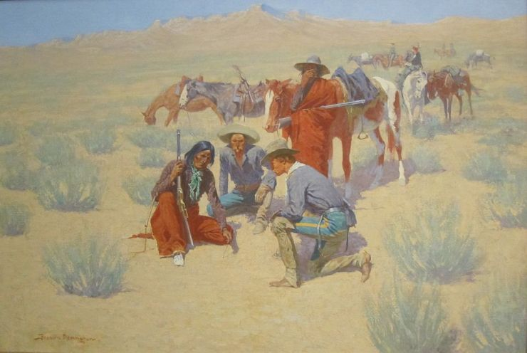 frederic remington a_map_in_the_sand'_by_frederic_remington,_cincinnati_art_museum