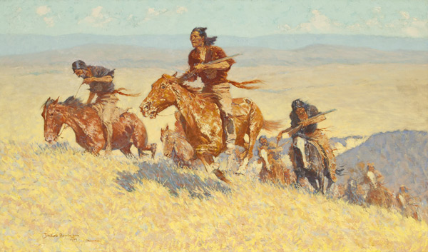 frederic remington, buffalo_runners-big_horn_basin