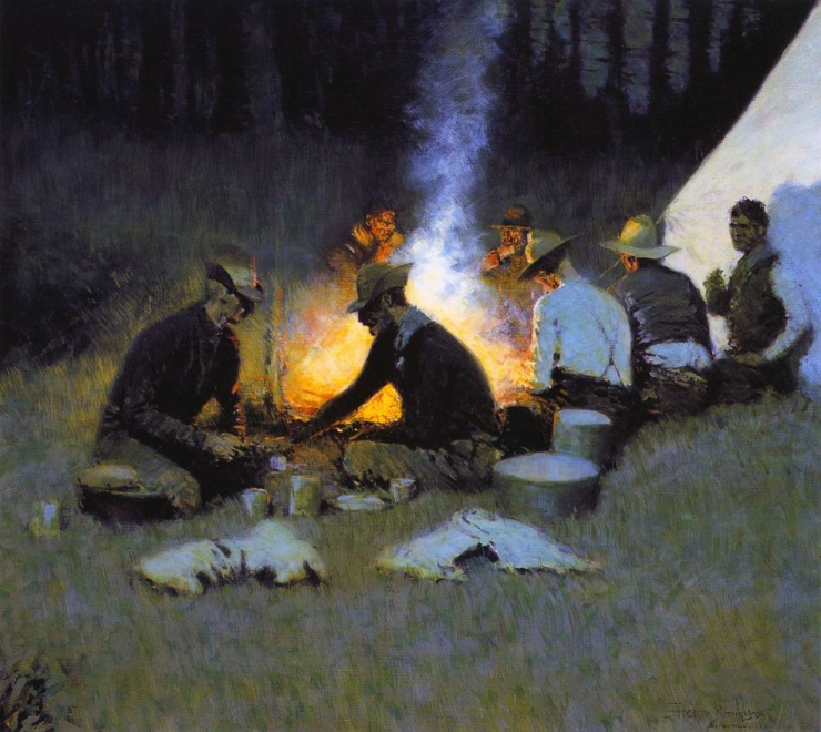 frederic remington the_hunters'_supper