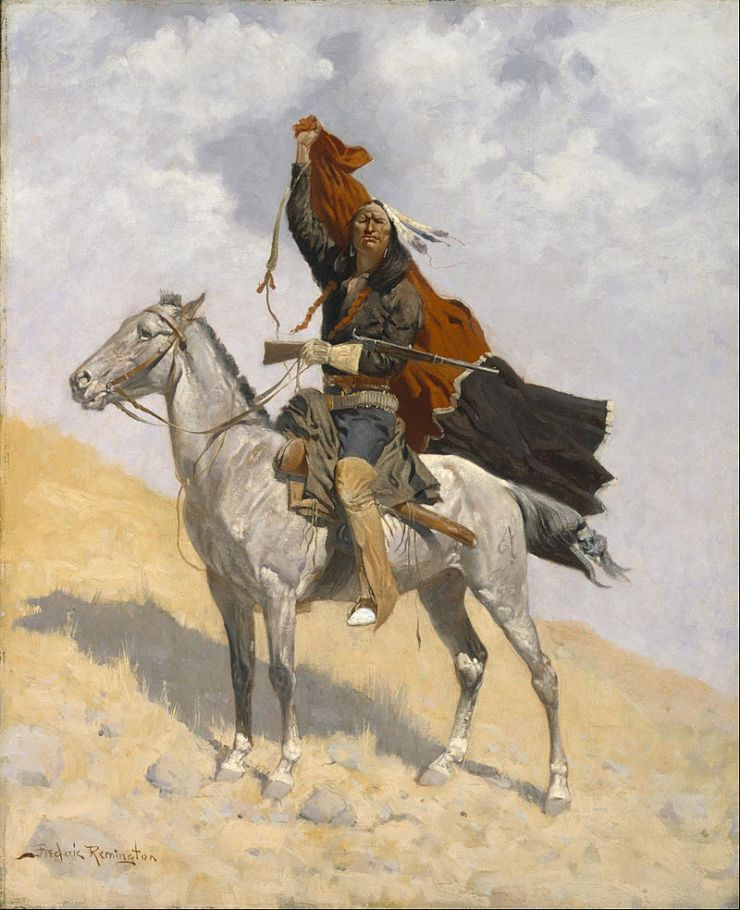 frederic_remington_-_the_blanket_signal_-_google_art_project